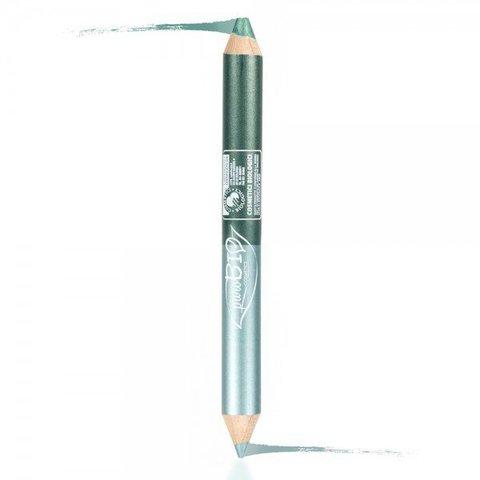 PuroBio - Двойной карандаш (для глаз + тени) ночной 2.8 гр. (сине-зеленый/изумрудно-зеленый) / Kingsize DUO Pencil: Kajal NIGHT – Eyeshadow NIGHT