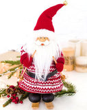 Интерьерная кукла Дед Мороз на лыжах