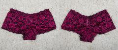 """Трусы """"жен. № 6"""" Кружевные шорты Черные с розовым"""