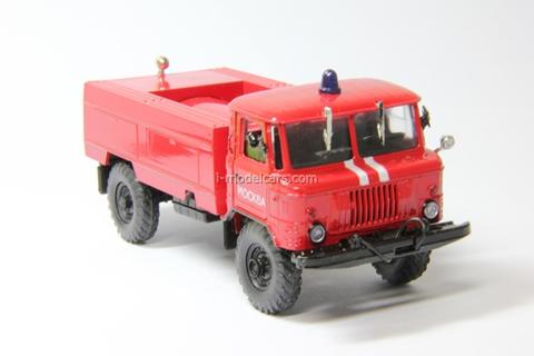GAZ-66 tanker Fire engine AC-15 Agat Mossar Tantal 1:43