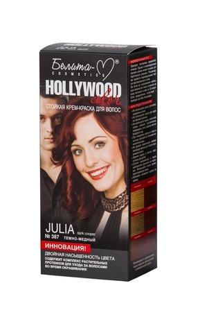 Белита-М Hollywood Color Крем краска 387 Джулия (темно медный.)