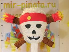 Пиньята череп капитана Флинта - пират