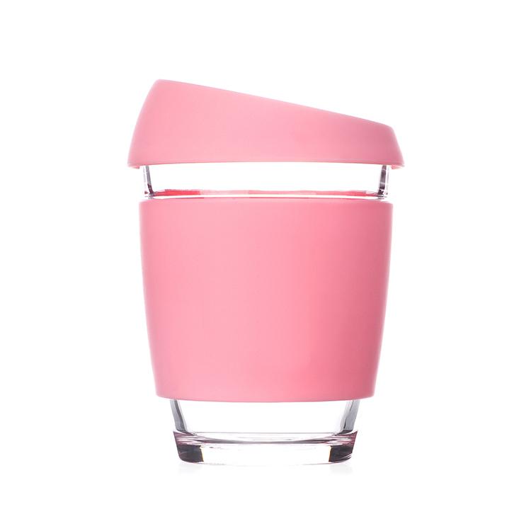 Кружка Coffee Cup из боросиликатного стекла 340 мл. розовый