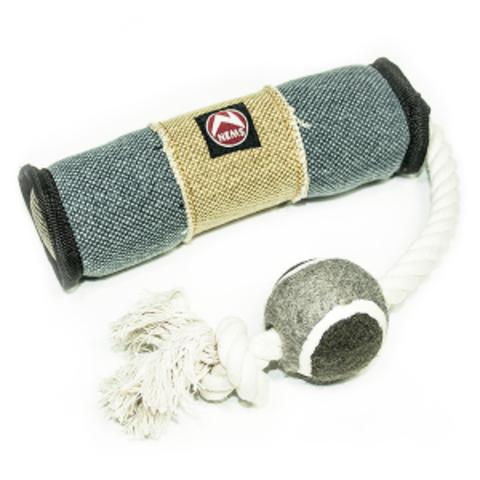 NEMS игрушка для собак палка джинсовая на канате 42см