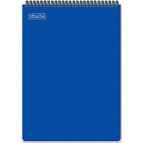 Блокнот Attache Plastic А4 80 листов синий в клетку на спирали (210x294 мм)