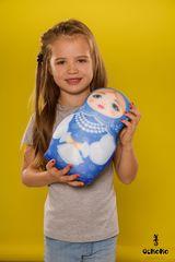 Подушка-игрушка антистресс «Матрешка зимняя» 2