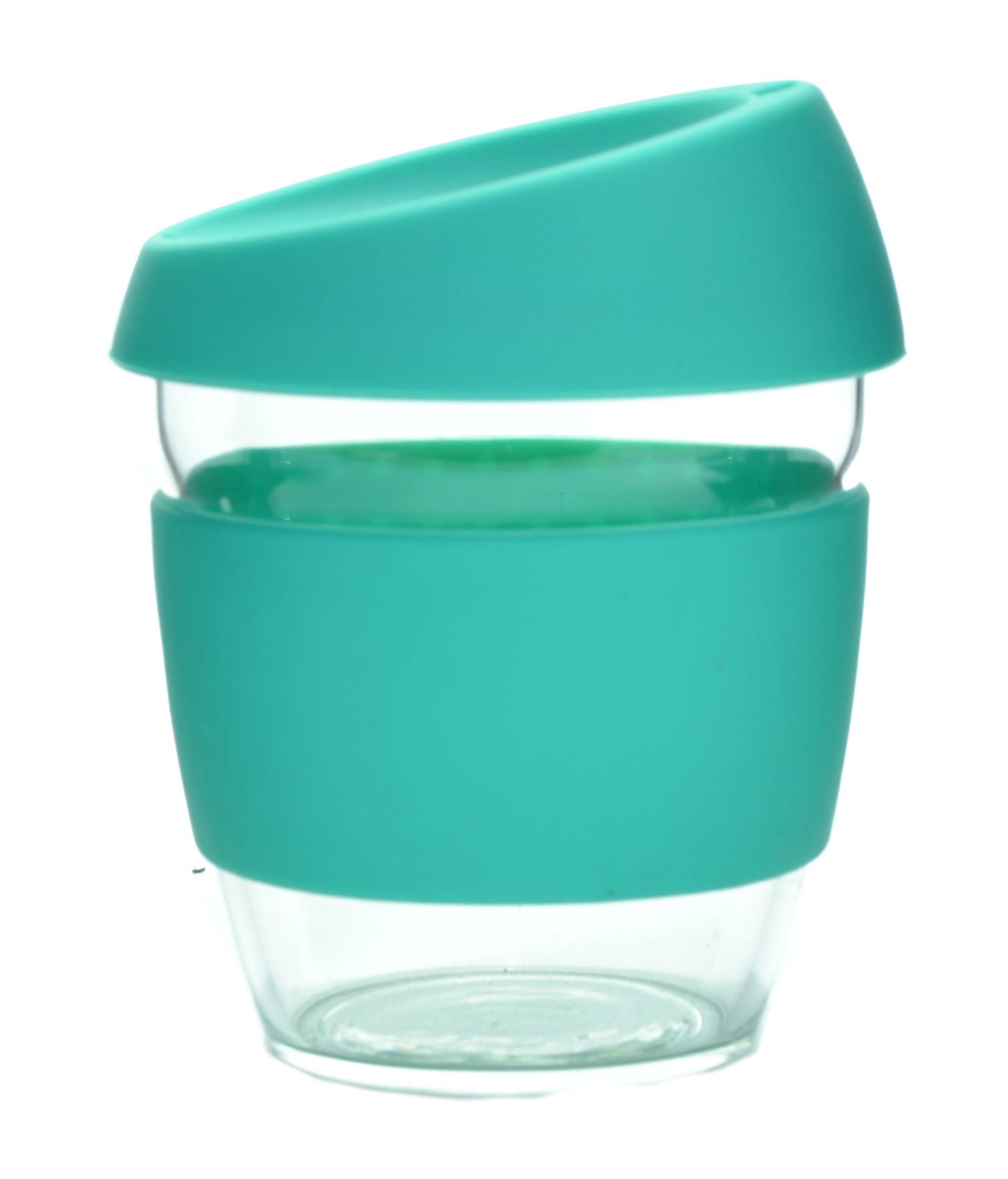 Кружка Coffee Cup из боросиликатного стекла 226 мл. бирюзовый