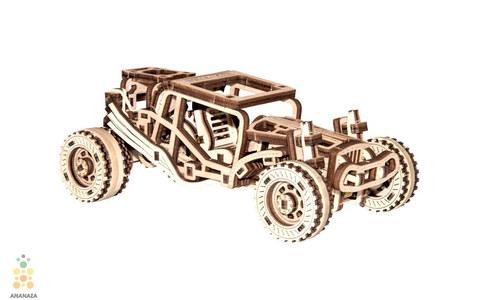 Багги от Wooden City - деревянный конструкторы, 3D пазл, сборная модель