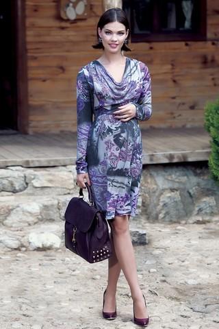 Платье для беременных 05538 фиолетовый