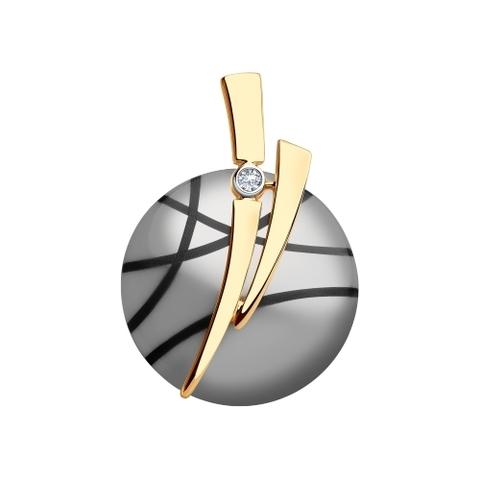 6035064 - Подвеска из золота с бриллиантом и керамикой