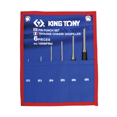 KING TONY (1006PRN) Набор выколоток, чехол из теторона, 6 предметов