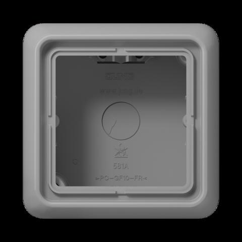 Накладная коробка на 1 пост. Цвет Серый. JUNG CD Накладные коробки. CD581AGR