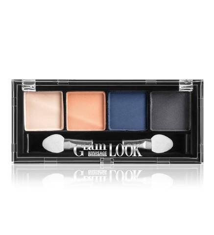 LuxVisage Glam Look Матовые тени для век 4-х цветные тон 3 (небесная)
