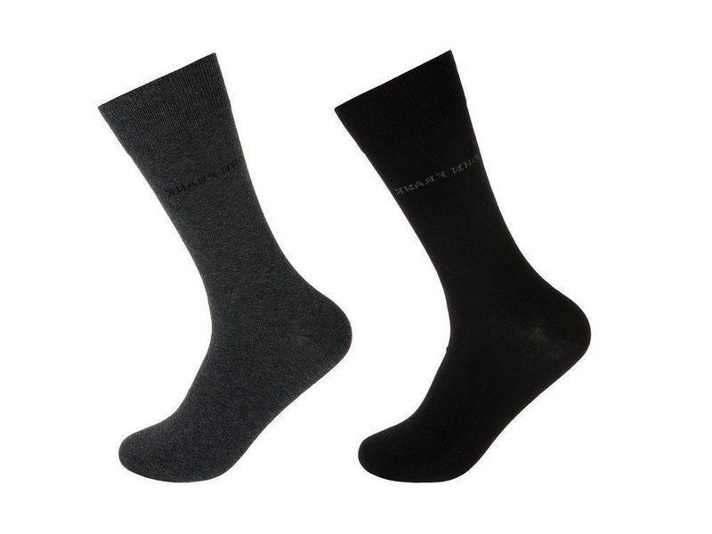 Носки мужские черные/т. серые JOHN FRANK - комплект из 2 пар