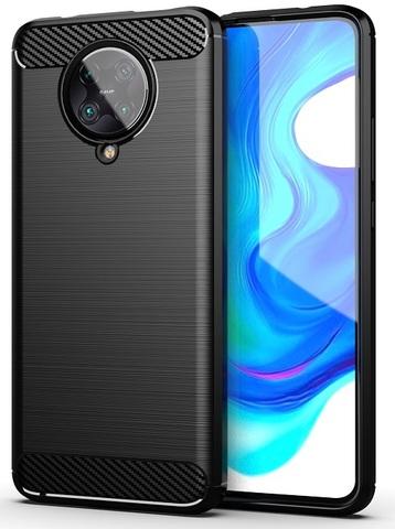 Чехол защитный черного цвета на Xiaomi Pocophone F2 Pro, серия Carbon от Caseport