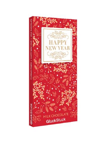 Швейцарский  молочный шоколад  «Happy New Year»  GluckStuck 90 гр.