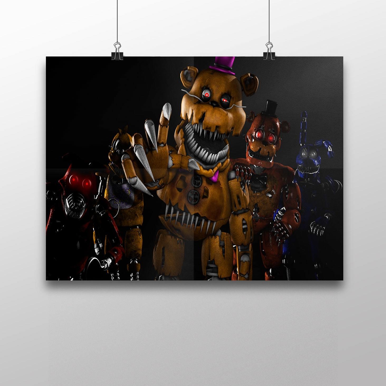 Плакат с героями ФНАФ №3 - купить в интернет-магазине kinoshop24.ru