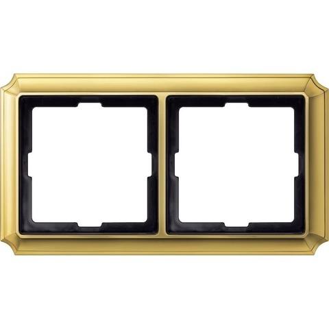 Рамка на 2 поста. Цвет Золото. Merten. Antique System Design. MTN483221