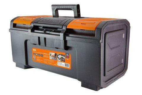 Ящик для инструментов ПРОФИ-24, 59х27х26 см, усилен., замок-автомат, лоток, органайзеры, «Рубин» TDM