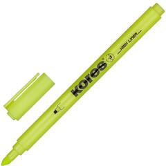 Текстовыделитель Kores желтый (толщина линии 0.5-3.5 мм)