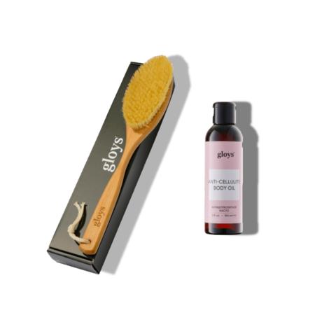Щетка в наборе с  антицеллюлитным маслом (выгода 6 BYN)