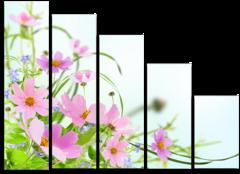 """Модульная картина """"Летние цветы"""""""