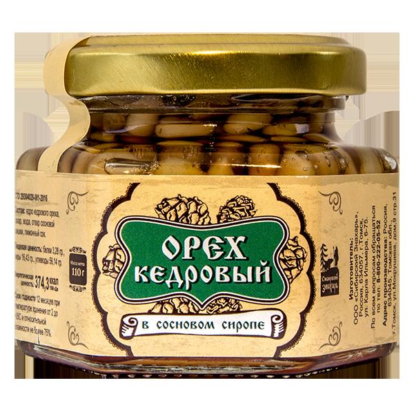 Ядро кедрового ореха в сосновом сиропе 110 г
