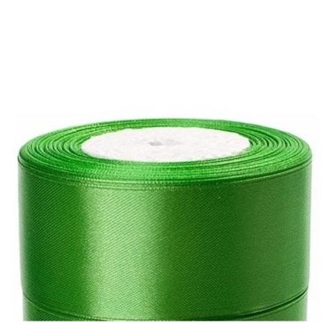 Лента атласная (размер:40мм х 25 ярдов) Цвет:зеленое яблоко