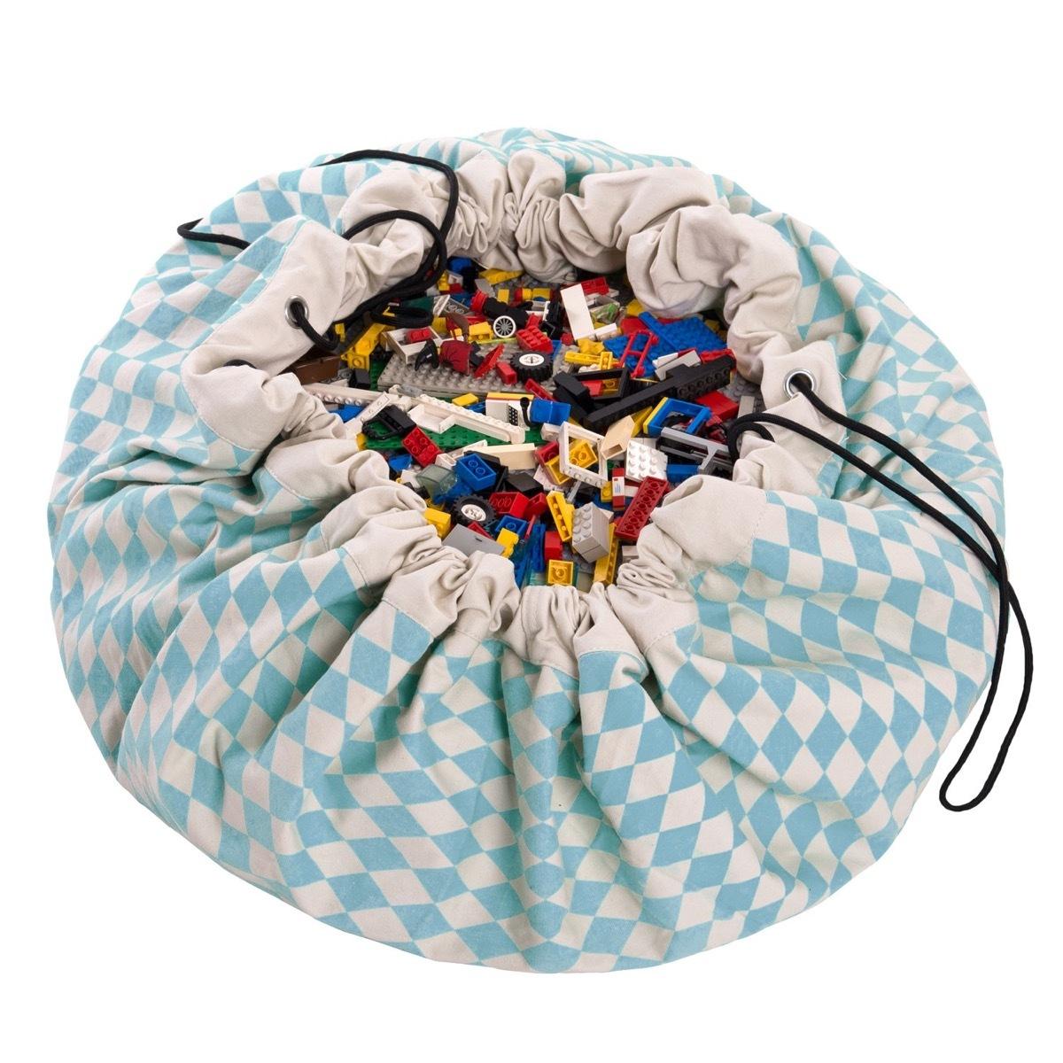 Коврик-мешок для игрушек Play&Go. Коллекция Print. Синий бриллиант