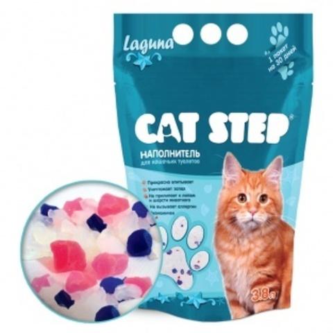 купить кет степ лагуна Cat Step Laguna 1.6 кг наполнитель силикагелевый 3.8 литров