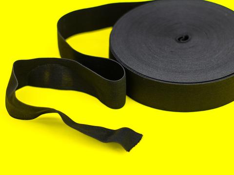 Эластичная лента, Let's make, ширина 40 мм., Черная