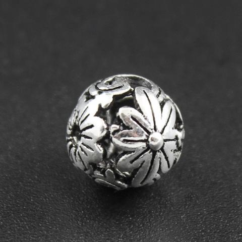 Бусина Гербарий 10 мм серебро 925
