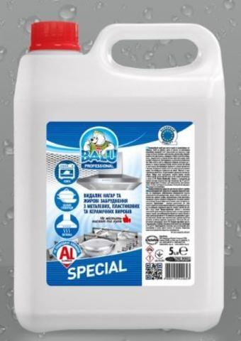 Профессиональное средство для мытья кухни и алюминиевых поверхностей BALU SPECIAL,5 л