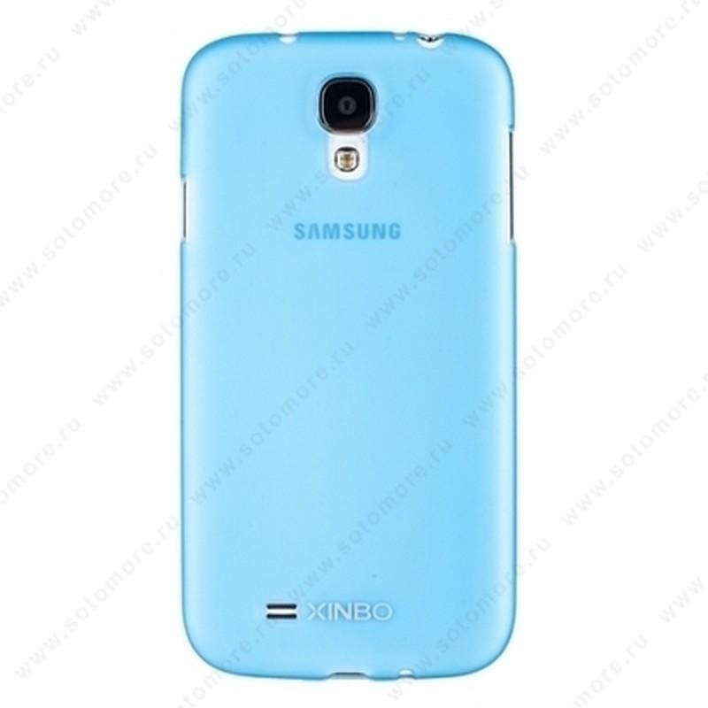 Накладка XINBO пластиковая для Samsung Galaxy S4 i9500/ i9505 голубая