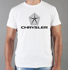 Футболка с принтом Chrysler (Крайслер) белая 002