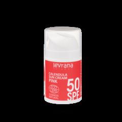 Солнцезащитный крем для лица и тела Календула, SPF50 PINK, 50ml TМ Levrana