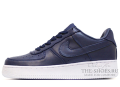 Кроссовки Женские Nike Air Force 1 Low Leather Navy Blue