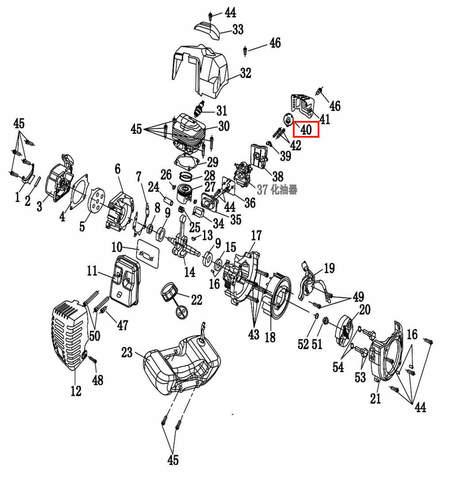 Крышка прижимная фильтра  для лодочного мотора T2 SEA-PRO