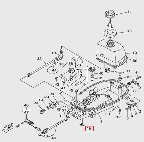 Втулка для лодочного мотора T5 Sea-PRO (7-8)