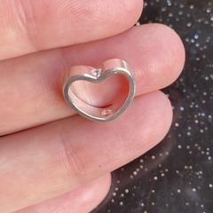 Бусина Сердце 10,5х11,5 мм серебро 925