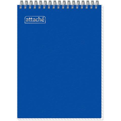 Блокнот Attache Plastic А5 80 листов синий в клетку на спирали (150x210 мм)
