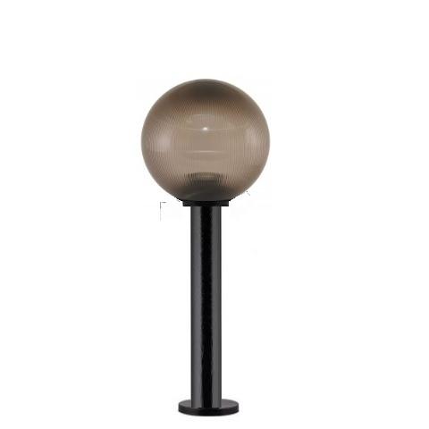 Садово-парковый светильник шар дымчатый призма D250mm с пластиковой опорой H600mm
