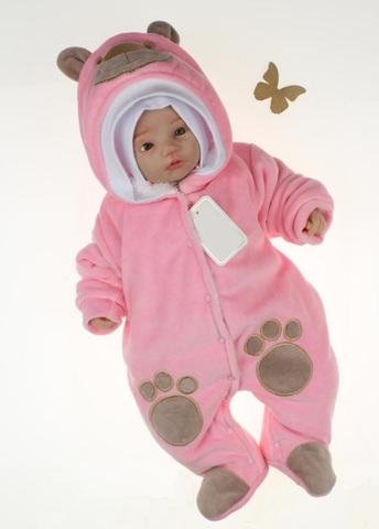 Комбинезон для новорожденных Little Bear розовый