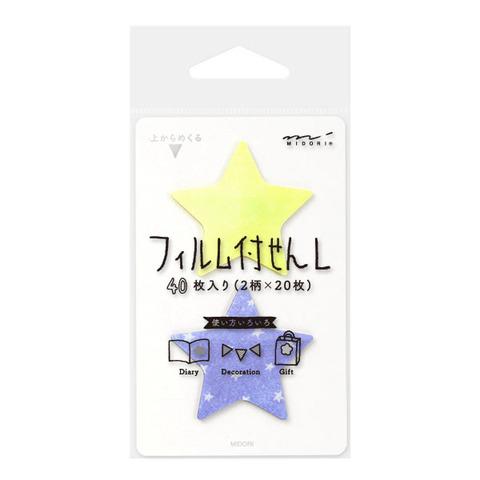 Стикеры Midori Sticky Paper Film L - Star