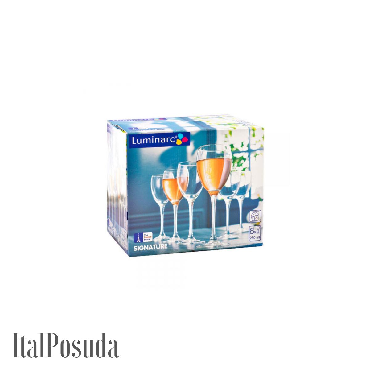 Набор бокалов для вина Luminarc Signature (Сигнатюр Эталон), 6 шт H8168