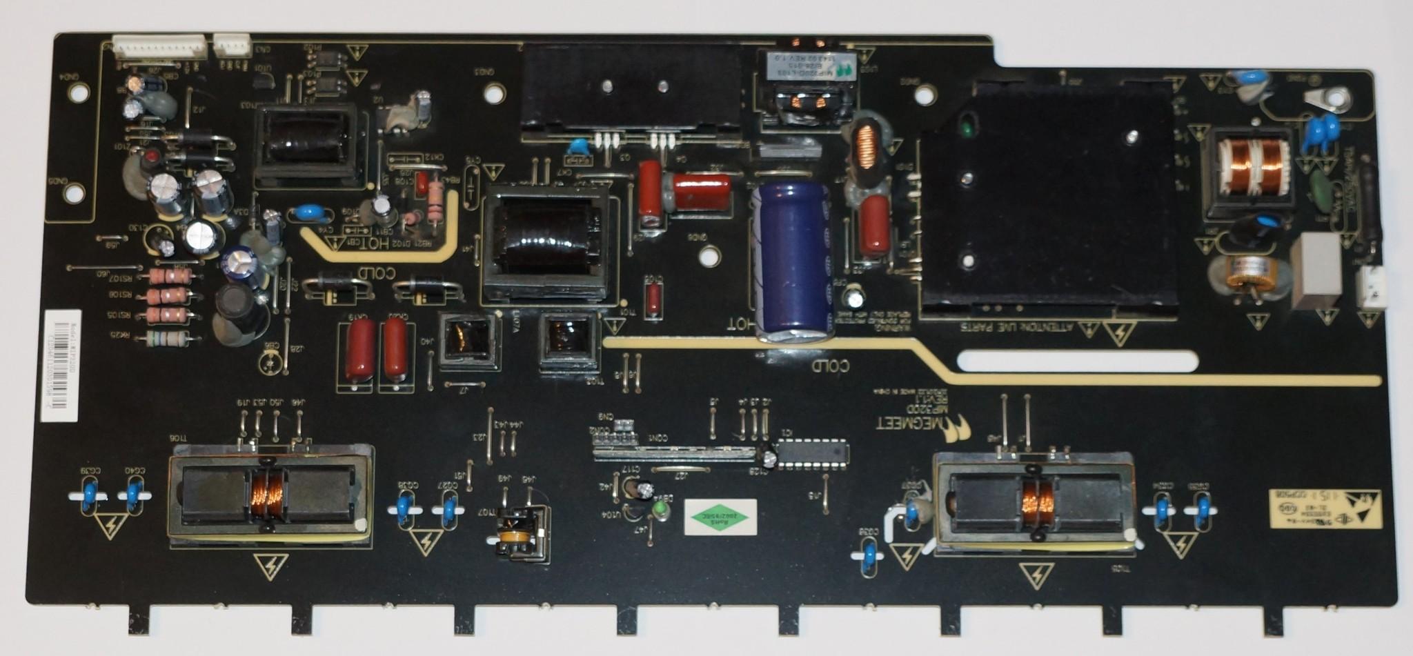 MIP320D блок питания с инвертором телевизора Supra, Changhong