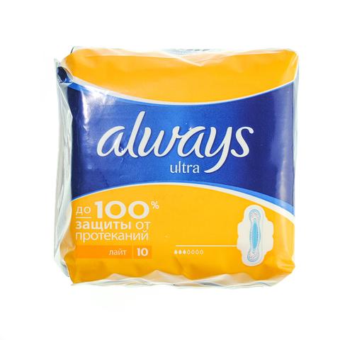 """Прокладки """"Always"""" Ultra ароматизированные Light 10шт"""