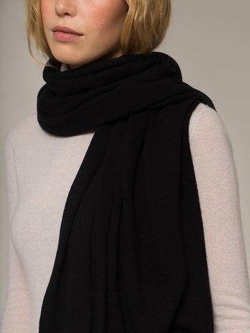 Женский черный шарф - фото 4