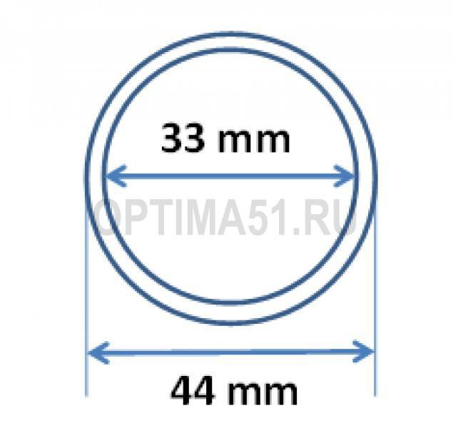 Капсулы для монеты 2 руб Ag 33/44 mm стандарт ЦБ РФ