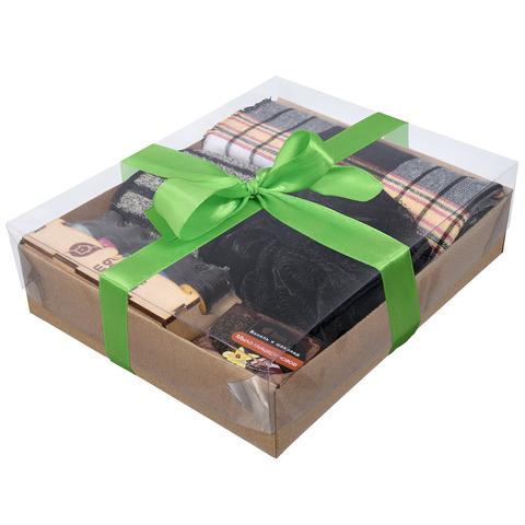 Подарочный Банный набор для мужчин (Черный) 5 предметов